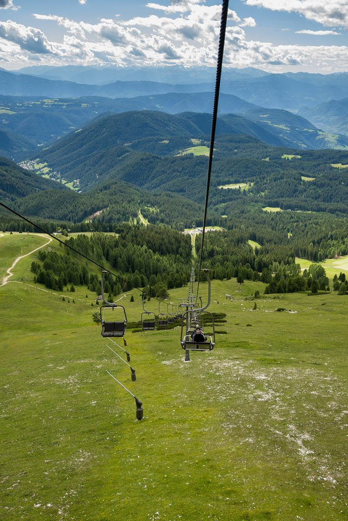 ski lift in the dolomites