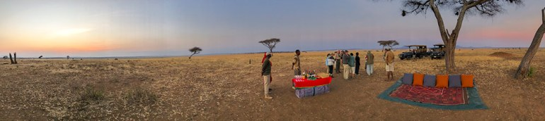 Sundowner in the Serengeti Tanzania