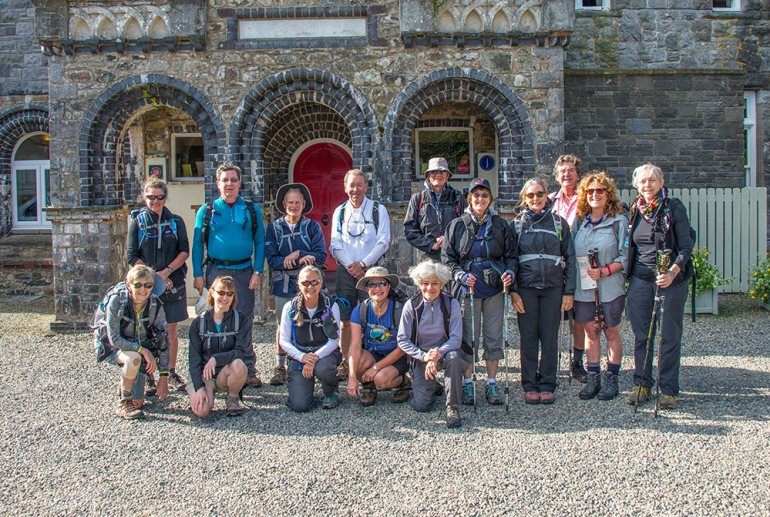 Group photo near Pembrokeshire Coast Path, Wales