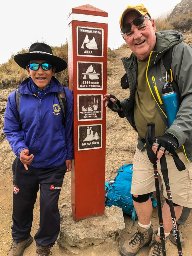 Dante and Bob hiking on inca trial