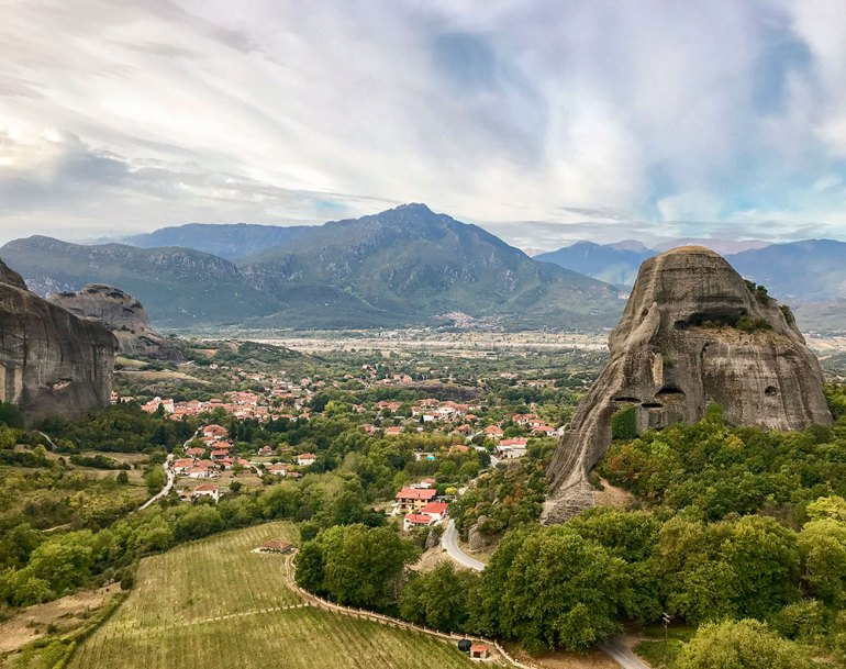 Meteora scenery in Greece
