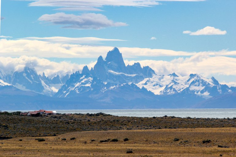 panoramic photo of fitz roy massif in patagonia