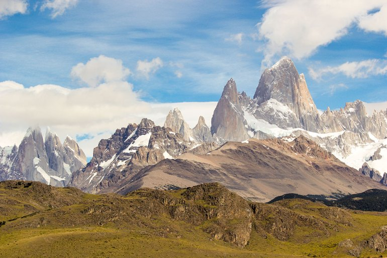 mountain view in patagonia