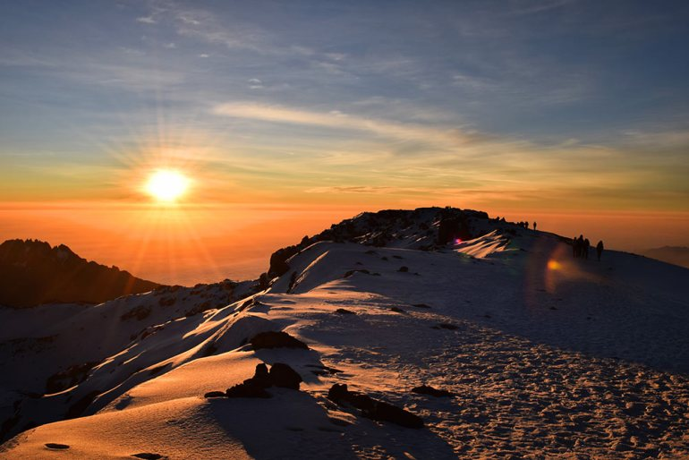 sunrise photo in kilimanjaro