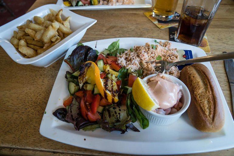 crab salad in England