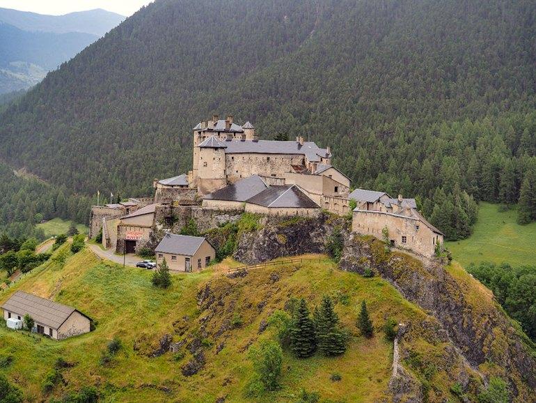 A castle near Mont Blanc