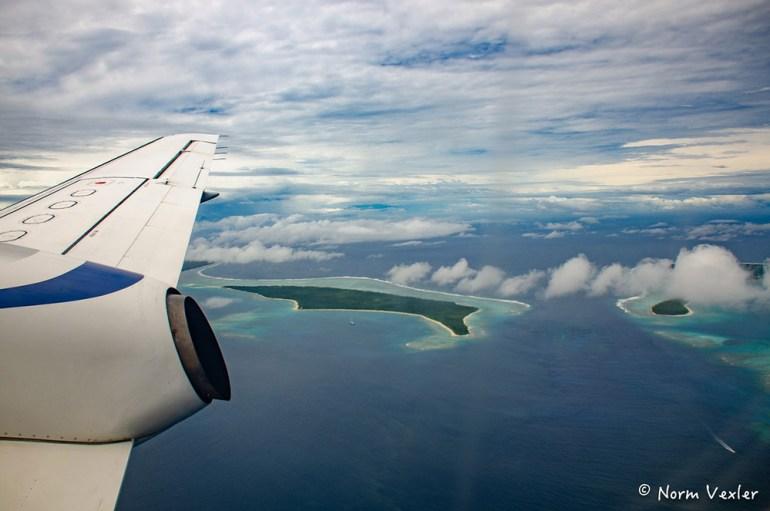 flying in plane to tonga