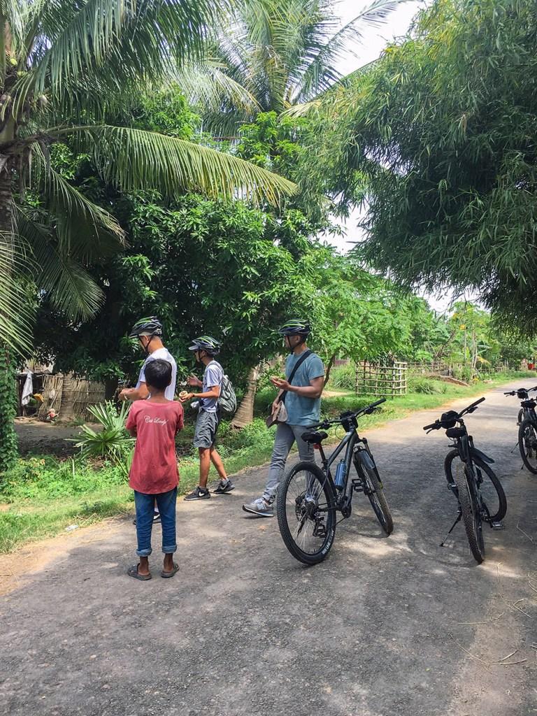 riding bikes in cambodia