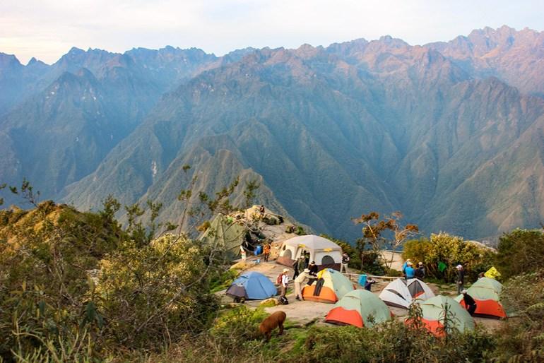 Beautiful campsite on the Inca Trail