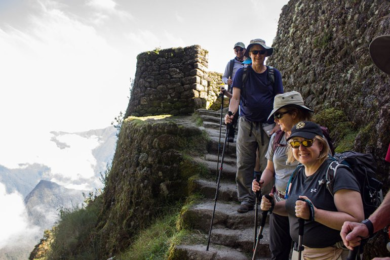 smiling group on the Inca Trail