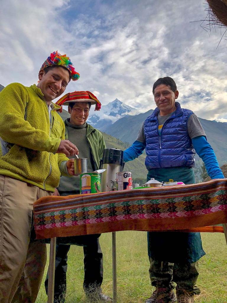 wake up call camping on the inca trail