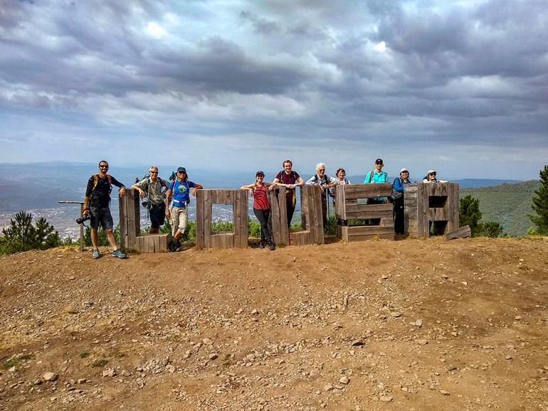 group photo in lousa in portugal