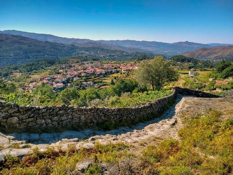 cobbestone path in portugal