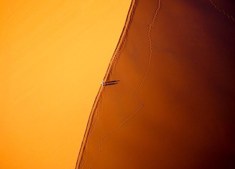 aerial photos sossusvlei namibia