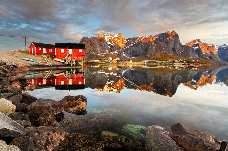 houses in lofoten, norway