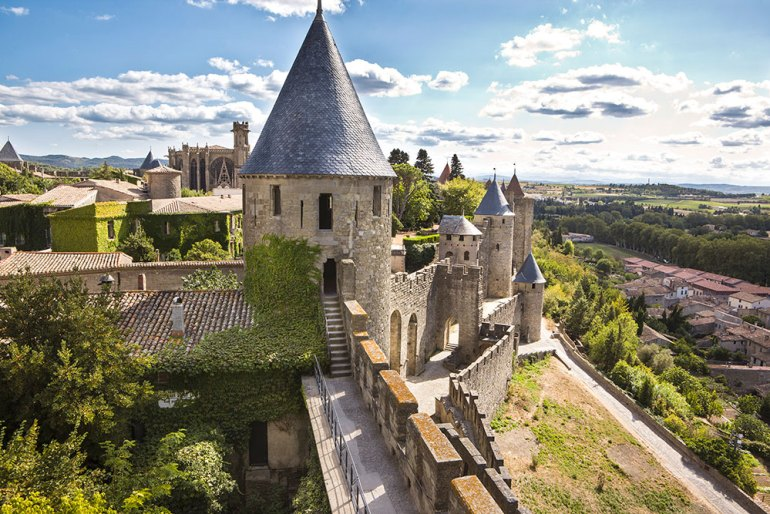La Cite Carcassonne in France