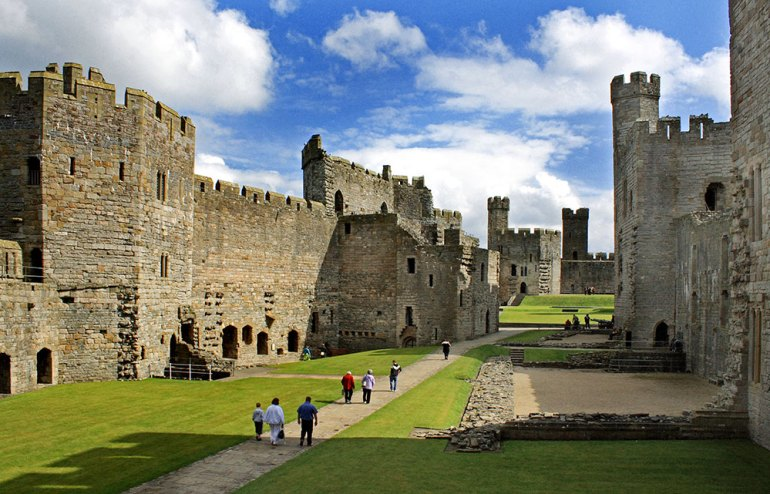 Caernarfon Castle in Wales