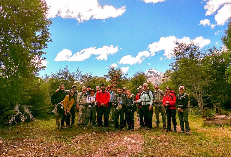 group photo in Patagonia