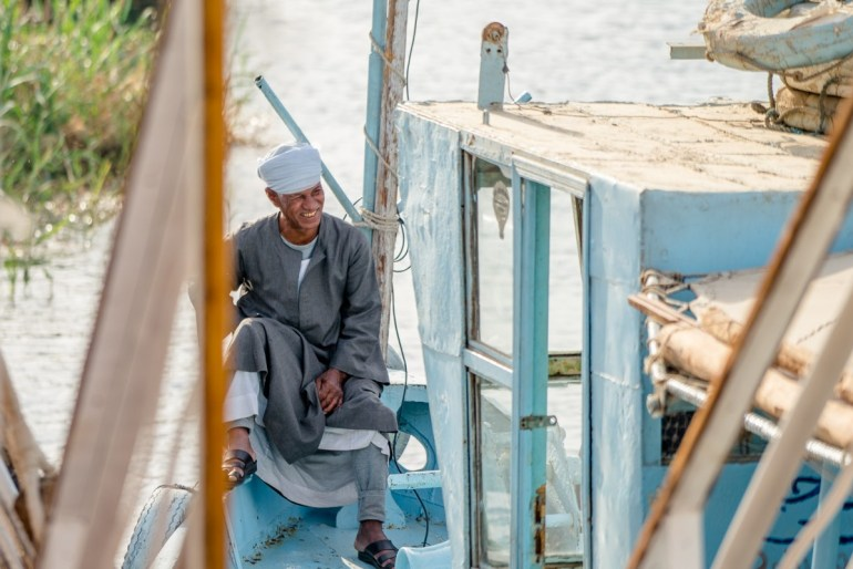 a sail boat captain in Egypt
