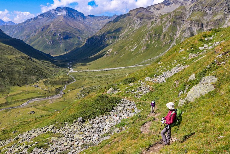 Jamtalhutte Austria hike