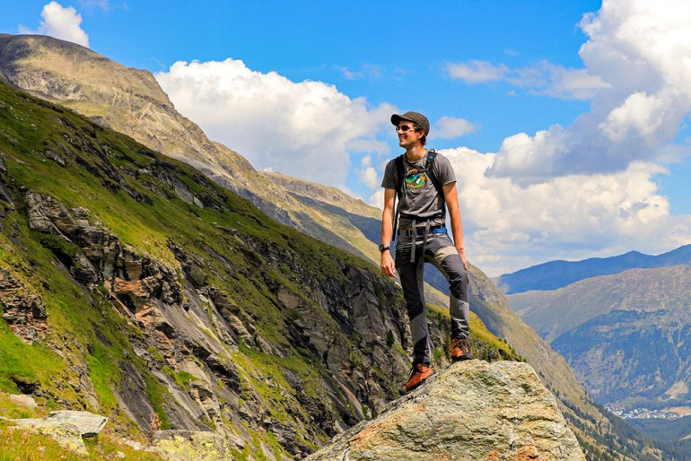 hiking guide in the alps