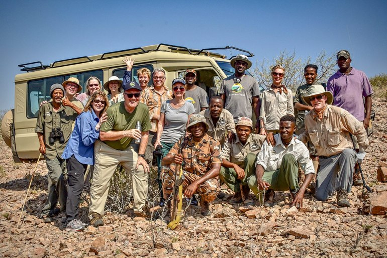 save the lion trust group in Namibia
