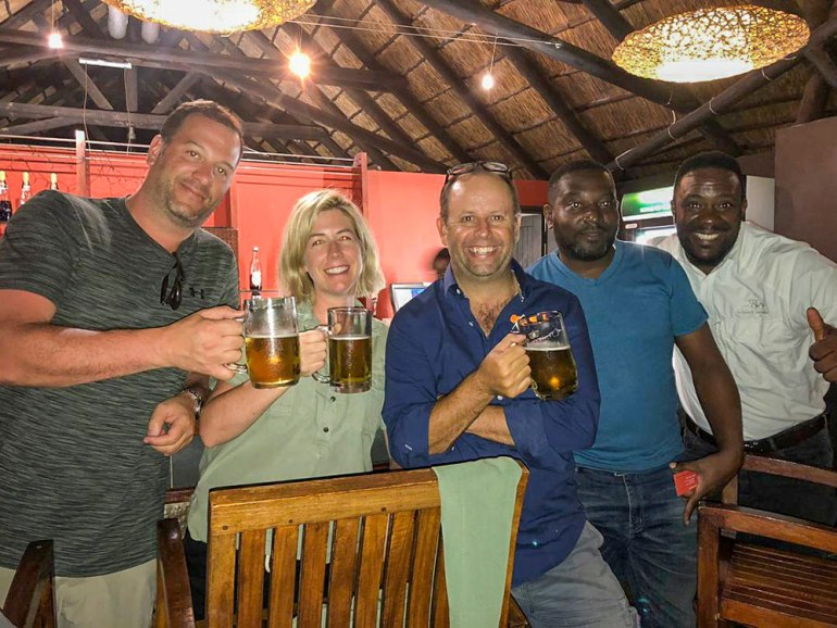 welcome dinner in Namibia