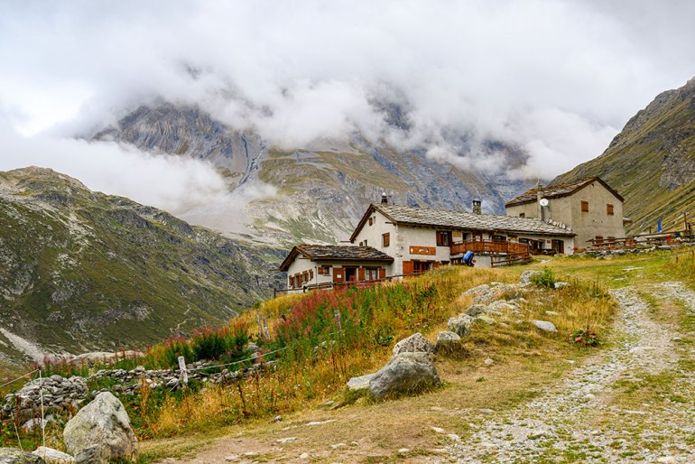 mountain losge on mont blanc to mediterranean