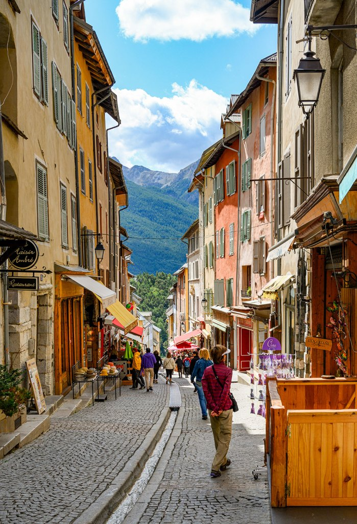 town we visited on mont blanc to mediterranean