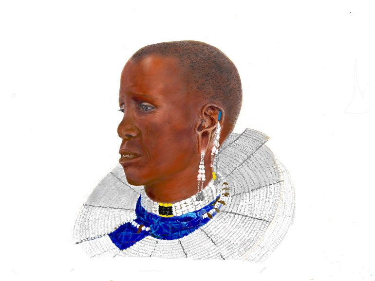 Tanzania artwork safari sketch of adornments