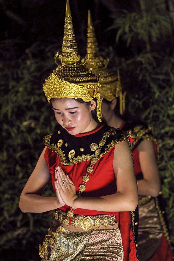 Lao dancers in indochine