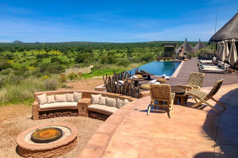 Namibia green season lodge pool
