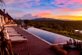 Namibia green season lodge sunset