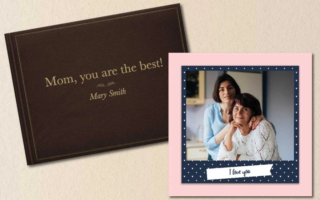 A beautifully made photo book gift for Mother's Day will make your mom cry happy tears.
