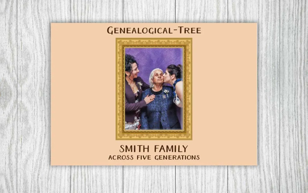 Family tree photo book gift for generations to come