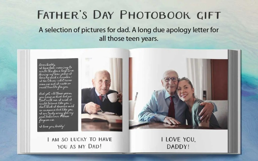 Fathers day photobook gift idea