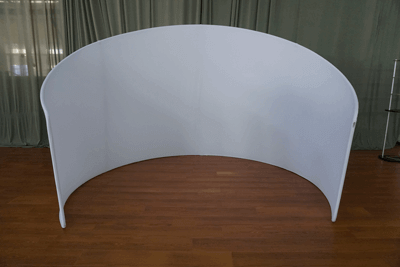 curved backdrop