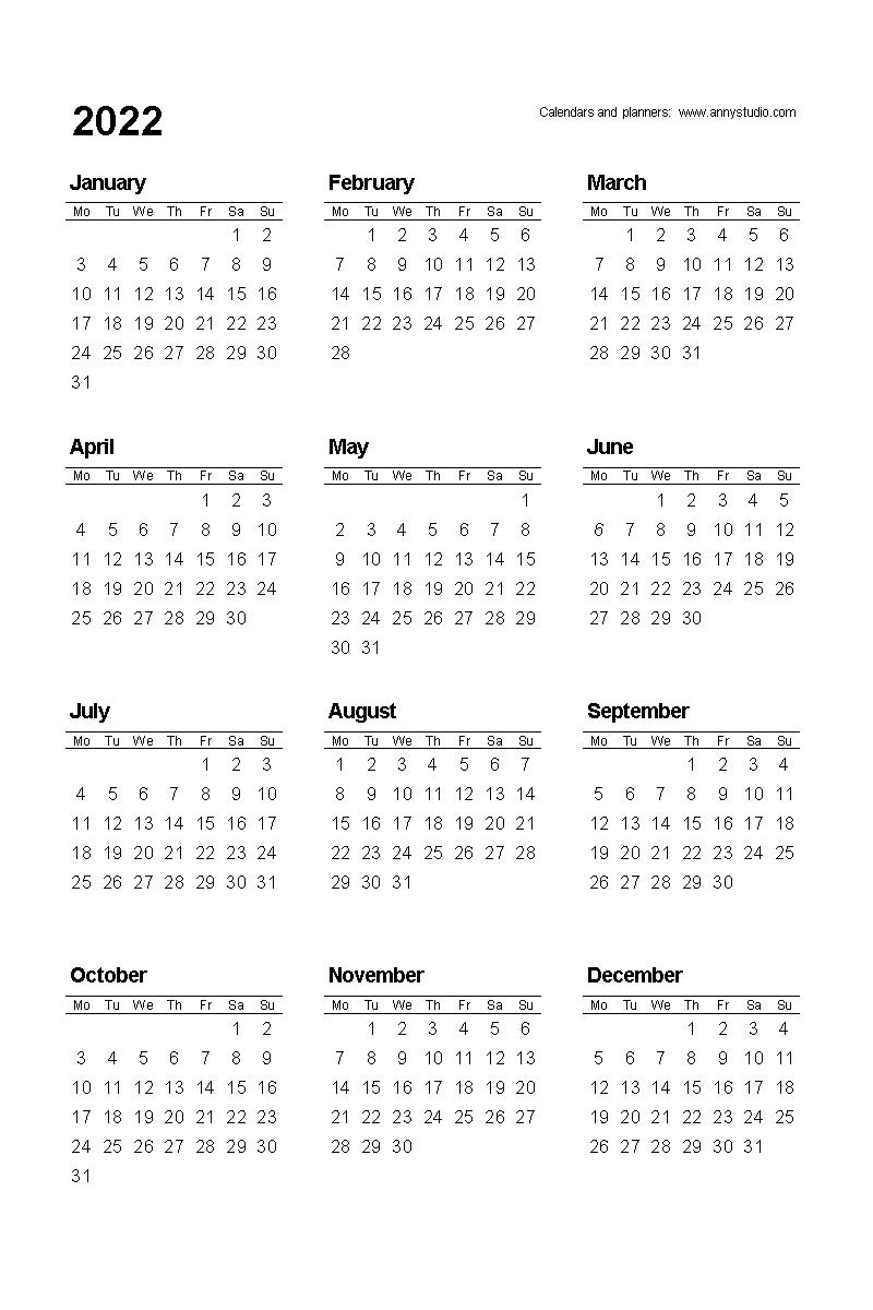 Free Printable Calendar 2022 And 2023 | Best Calendar Example