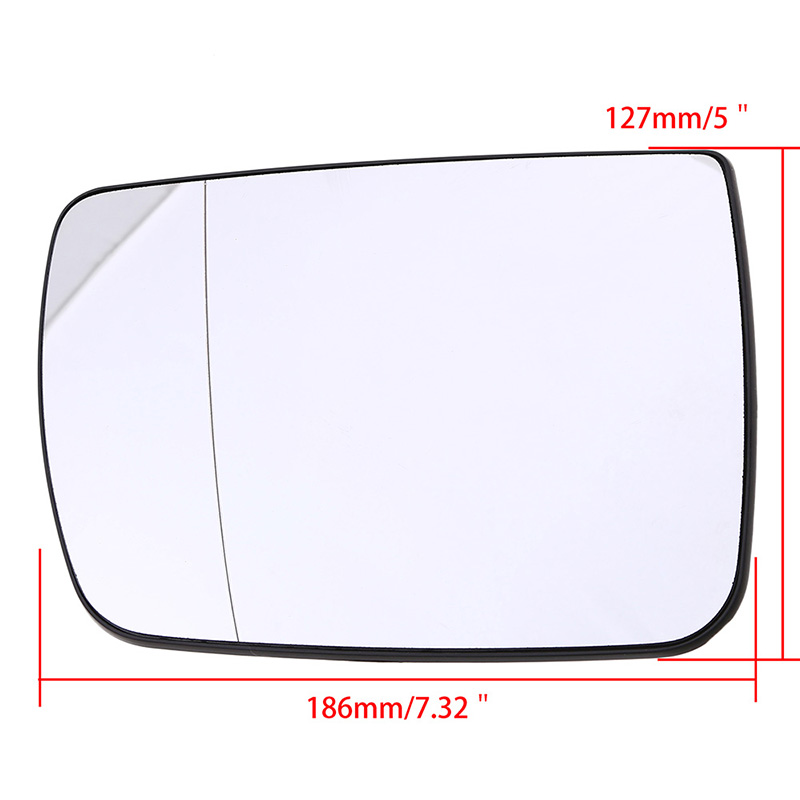 White Right Passenger Side Mirror Glass W/ Heating For BMW