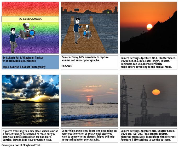 DSLR Camera Settings for Sunrise and Sunset Photography