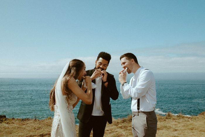 Cliffside Marriage Photo