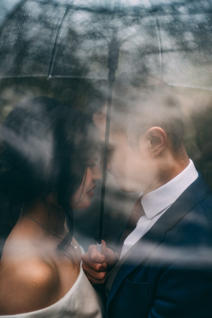 rainy wedding portrait tpom december