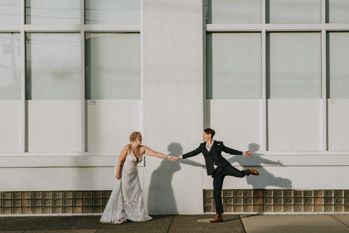 same sex couple wedding instagram profile