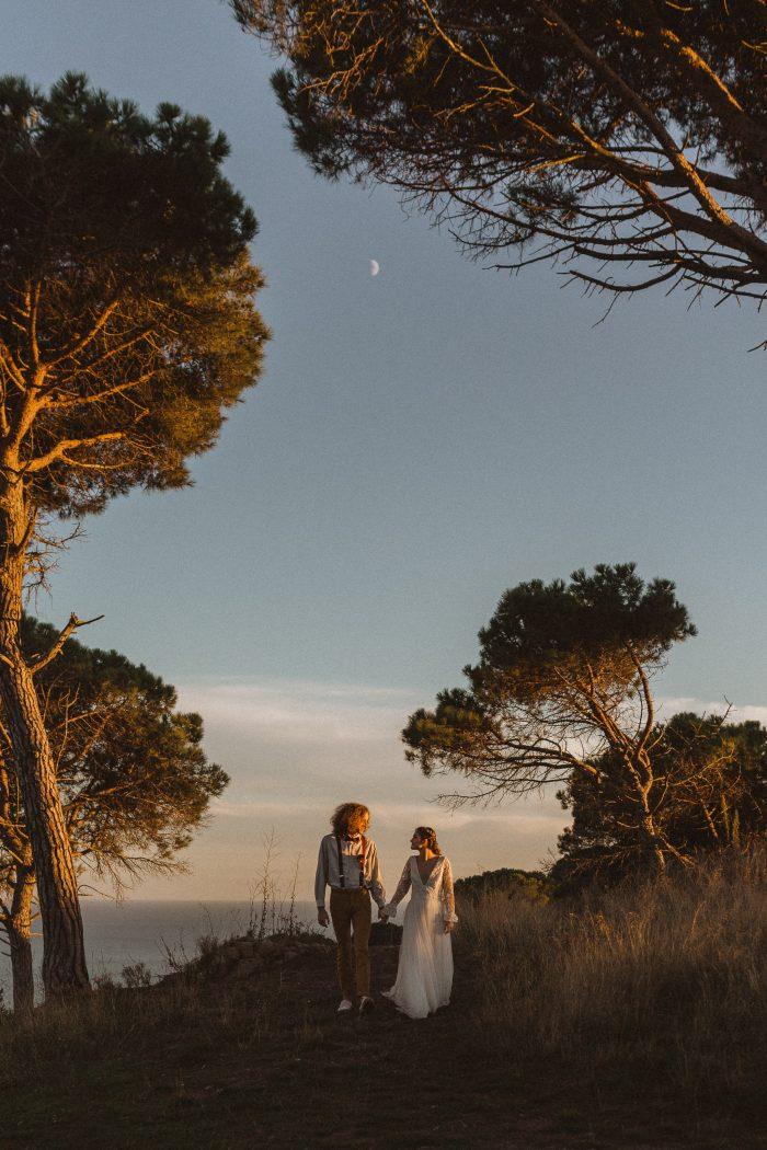 ethereal couple on coast