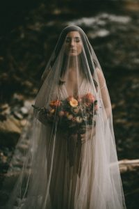 top pic moody bridal portrait with veil