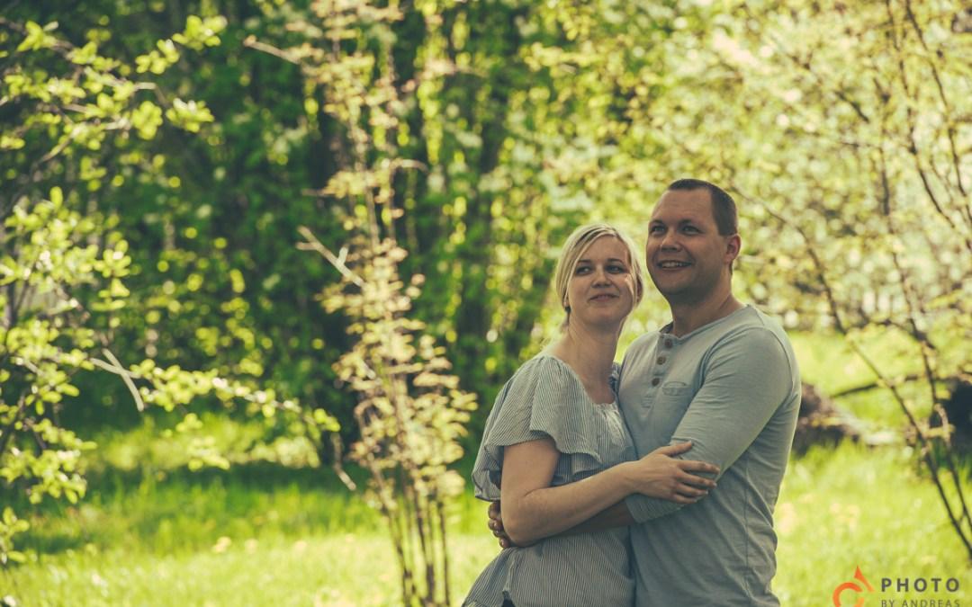 Preshoot med Jenny och John-Erik i Botaniska Trädgården