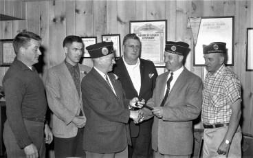 Am. Legion Post 346 installation of officers Com. Edgar DeWitt 1961