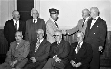 G'town Am. Legion lifetime members Robert R. Livingston standing 2nd from left 1960