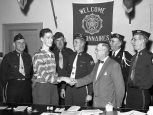 Robert Gibson thanking Am. Legion members for his time at Boy's State 1959 (2)