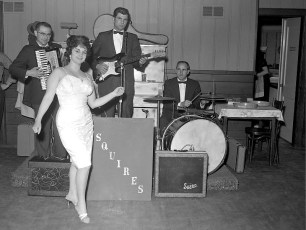 Blue Gables band Squires playing the Twist Linlithgo 1962